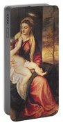 Virgin With Child At Sunset Portable Battery Charger by Titian