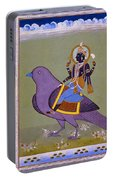 Vishnu On A Bird Portable Battery Charger