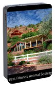 Visitor Center Best Friends Animal Sanctuary Angel Canyon Knob Utah 02 Text Black Portable Battery Charger