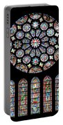 Vitraux - Cathedrale De Chartres - France Portable Battery Charger