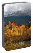 Vivid Autumn Aspen And Mountain Landscape Portable Battery Charger