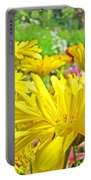 Vivid Colorful Yellow Daisy Flowers Daisies Baslee Troutman Portable Battery Charger