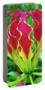Vivid Gloriosa Lily Portable Battery Charger