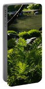 Vivid Green Ferns Portable Battery Charger