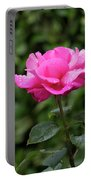 Vivid Pink Rose  Portable Battery Charger