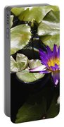 Vivid Purple Water Lilly Portable Battery Charger