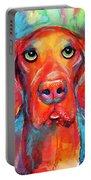 Vizsla Dog Portrait Portable Battery Charger