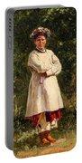 Vladimir Yegorovich Makovsky Russian 1846  1920   Ukrainian Girl, 1898 Portable Battery Charger