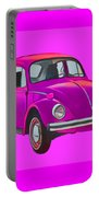 Volkswagen Beetle So Pinks Portable Battery Charger
