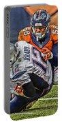 Von Miller Denver Broncos Art Portable Battery Charger