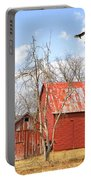Vultures Over Barn Portable Battery Charger