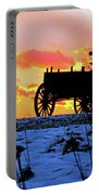 Wagon Hill At Sunset Portable Battery Charger