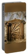 Wagon Wheel Gate Portable Battery Charger