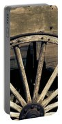 Wagon Wheel - Old West Trail N832 Sepia Portable Battery Charger