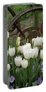 Wagon Wheel Tulips Portable Battery Charger