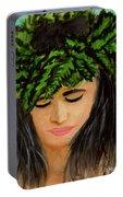 Wahine Woman In Hawaiian #244 Portable Battery Charger