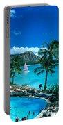 Waikiki And Sailboat Portable Battery Charger