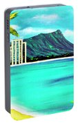 Waikiki Beach And Diamond Head #150 Portable Battery Charger