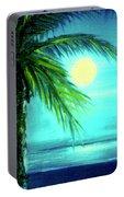 Waikiki Beach Moon #22 Portable Battery Charger