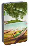 Waikiki Beach Outrigger Canoes 344 Portable Battery Charger
