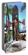 Waikiki Statue - Duke Kahanamoku Portable Battery Charger