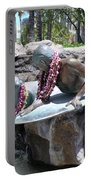 Waikiki Statue - Surfer Boy And Seal Portable Battery Charger