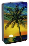 Waikiki Sunset #38 Portable Battery Charger