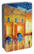 Wailing Wall Original Palette Knife Painting Portable Battery Charger