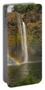 Wailua Falls Rainbow Portable Battery Charger