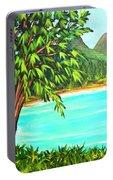 Waimanalo Beach Oahu #385 Portable Battery Charger
