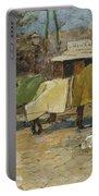 Waiting In A Car Park  Willem De Zwart  1872   1931 Portable Battery Charger