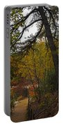 Walden Pond Path Into The Forest 2 Portable Battery Charger
