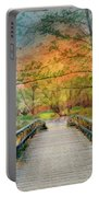 Walk To The Lake In Watercolors Portable Battery Charger