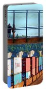 Walking Bridge Over The Tracks Portable Battery Charger