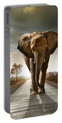 Walking Elephant Portable Battery Charger by Carlos Caetano
