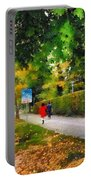 Walking On A Beautiful Path Portable Battery Charger