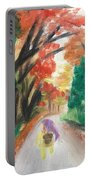 Walking Through The Woods Portable Battery Charger