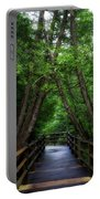 Walkway Tahquamenon Lower Falls Upper Peninsula Michigan Vertical 04 Portable Battery Charger