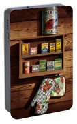 Wall Spice Rack - Americana Kitchen Art Decor - Vintage Spice Cans Tins - Nostalgic Spice Rack Portable Battery Charger