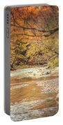 Walnut Creek In Autumn Portable Battery Charger