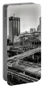 Walnut Street City View In Black And White Portable Battery Charger