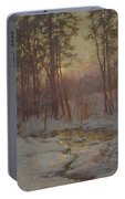 Walter Launt Palmer 1854-1932 Winter Stream At Sunset Portable Battery Charger