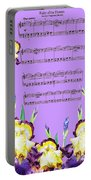 Waltz Of The Flowers Dancing Iris Portable Battery Charger