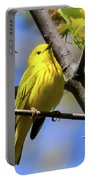 Warbler In Yellow Portable Battery Charger