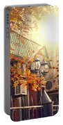 Warm Autumn City. Warm Colors And A Large Film Grain. Portable Battery Charger
