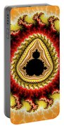 Warm Colors Orange Yellow Red Mandelbrot Fractal Portable Battery Charger