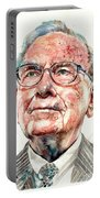 Warren Buffett Portrait Portable Battery Charger