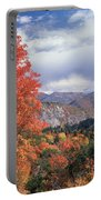 212m45-wasatch Mountains In Autumn  Portable Battery Charger