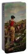 Washerwomen In Candas Asturias Amoros Botella, Antonio Portable Battery Charger
