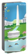 Washington, D.c. Vertical Skyline Portable Battery Charger
